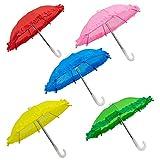 Best Mini Umbrellas - AUEAR, 5 Pack Cute Mini Doll Umbrella 5 Review