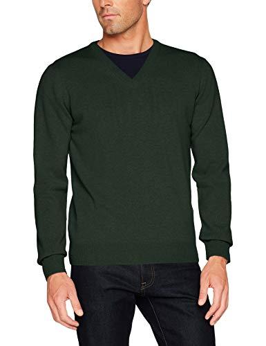 GANT Herren Superfine Lambswool V-Neck Pullover, Grün (Tartan Green 374), X-Large (Herstellergröße: XL)