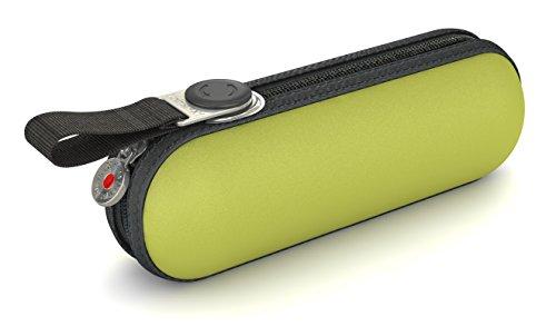 Knirps Taschenschirm X1 Uni – Der kleinste Regenschirm von Knirps – Leicht und kompakt –Windproof – Lemon