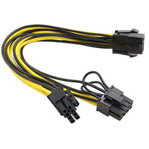2x PCI-E 6 pines hembra a doble PCI-E 8 pines (6 + 2) divisor de cable GPU macho