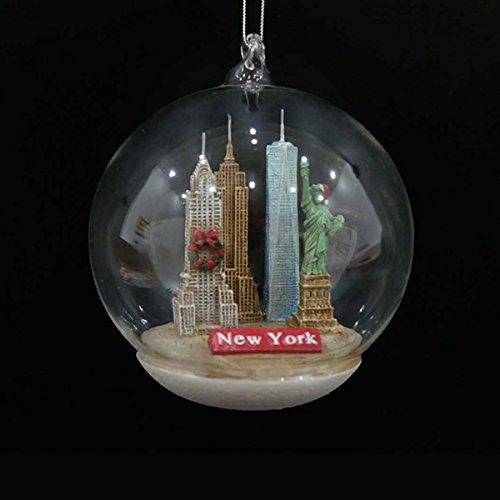 Kurt Adler 4' New York City Landmarks Glass Dome Decorative Christmas Ornament