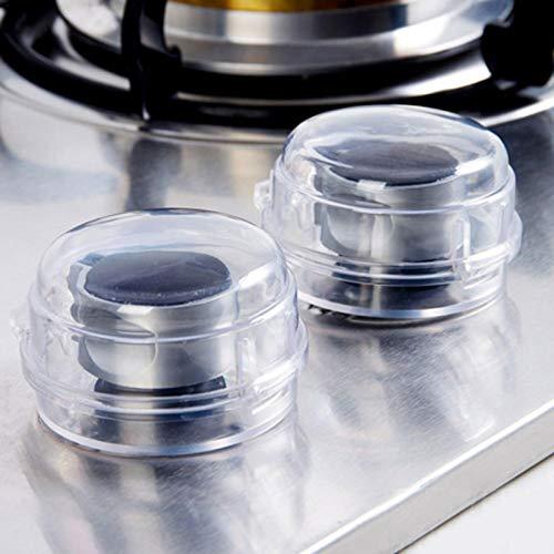 Magent 6pcs Herd Knopf Abdeckung Schutz,Herdschutz, Herd Kindersicherung, Transparente Herdschutzknopf für Home Restaurant Küche