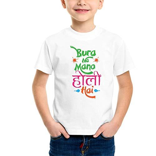 Powerpuff - Kids Bura Na Mano Holi Hai T-Shirts (Boy/Girl) (9-10 Years)