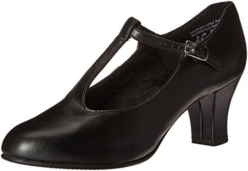 Capezio Jr. Footlight T-Strap Black Dance Shoe - 5.5 M US