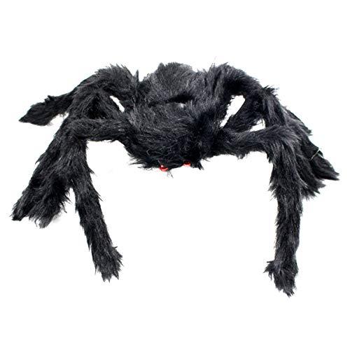 Jinlaili 30CM Negro Araña Realista Jueguetes de Arañas Peludas para Decoración de Fiesta de Halloween, Casa Encantada Props Felpa Araña, Adecuado para La DecoracióN De Accesorios De La Casa Embrujada
