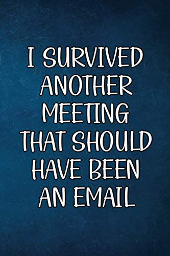 I Survived Another Meeting That Should Have Been An Email: Funny Gag Gifts for Men   Lined notebook   Journal for Work, School, Office