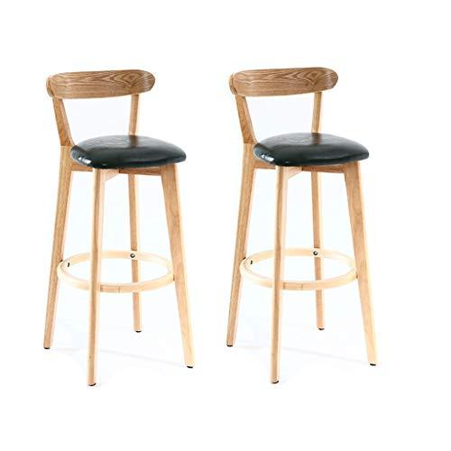 Nubao barstoel, barkruk, Nordic modern, minimalistisch huis, vrije tijd, kruk van massief hout, keuken, restaurant, stoel, tegenstanders stoel, 70 cm, 3 kleuren