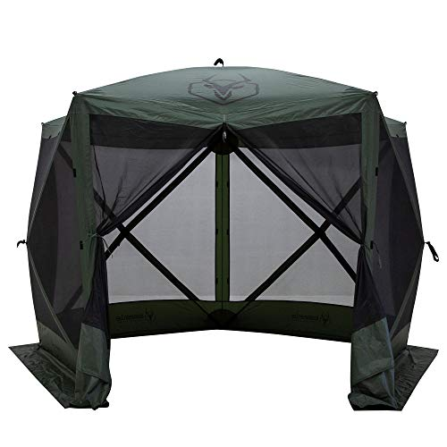 Gazelle 4 Person 5 Sided Portable Pop Up Gazebo with Mosquito Netting