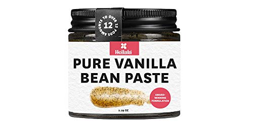 potente sabor a vainilla. 1 cucharadita = 1 vaina de vainilla. La consistencia de jarabe de arce. todos los ingredientes naturales; Extracto de vainilla Bean, Alcohol (12%), semillas de vainilla Bean, Azúcar (5%) y espesante Natural (Carragenina, 0,5...