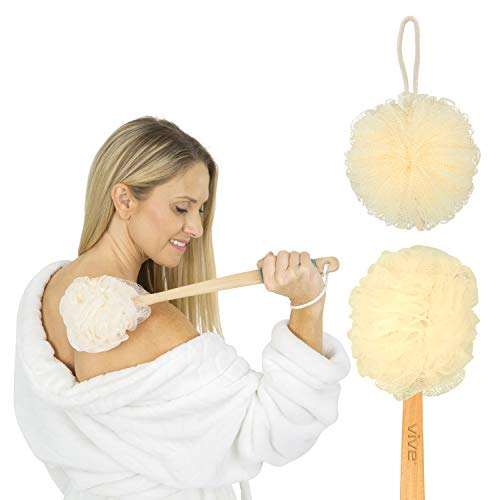 Vive Loofah Sponge Back Scrubber - Men & Women Long...