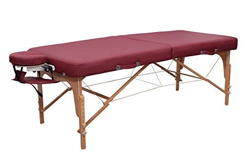Massageliege Zen BigOne - Die klappbare und mobile Massagebank und Kosmetikliege für den Profi oder Heimbedarf - PVC-frei/PU-Kunstleder/Top Qualität / 10 Jahre Garantie (Burgund)