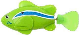 Electronic Swimming Fish Toy Battery Powered Plastic Flashing Swimming Fish Toys,Electronic Swimming Toy for Kids Kakiyi