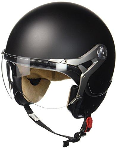 "Soxon® SP-325 Mono ""Night"" · Jet-Helm · Motorrad-Helm Roller-Helm Scooter-Helm Bobber Mofa-Helm Chopper Retro Cruiser Vintage Pilot Biker Helmet · ECE Visier Schnellverschluss Tasche M (57-58cm)"