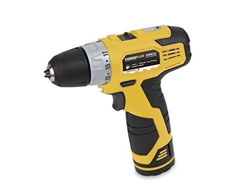 Powerplus POWX0061LI cordless combi drill - cordless combi drills (Lithium-Ion (Li-Ion), Black, Metallic, Yellow, 320 x 246 x 94 mm)