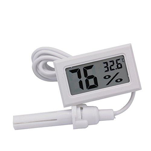 Hensych -50~ 70°C 10% ~ 99% RH LCD Digitale termometro e rilevatore di umidità per Acquario Rettile Incubatore Serra