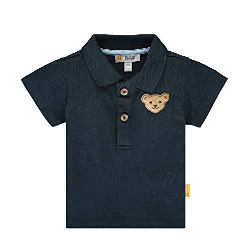 Steiff Baby-Jungen Poloshirt, Blau (Black Iris 3032), 74 (Herstellergröße: 074)