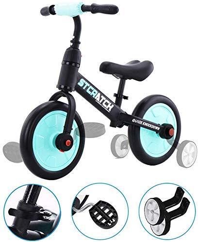 Oanzryybz Bonne qualité Car Draisienne for 1-5 Ans Old Boys & Girls, 4-in-1 Enfants Tricycle avec...