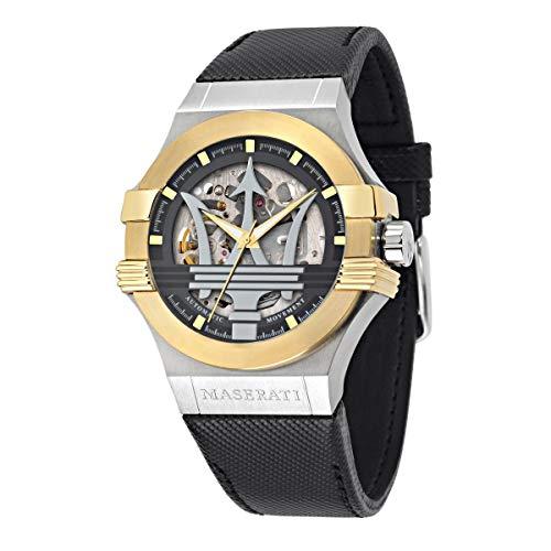 Orologio da uomo, Collezione POTENZA, in Acciaio, Cuoio - R8821108037