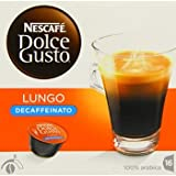 2 X Nescafé Dolce Gusto Lungo <span class='highlight'>Decaf</span>feinated 16 Capsules (Pack of 3, Total 48 Capsules)