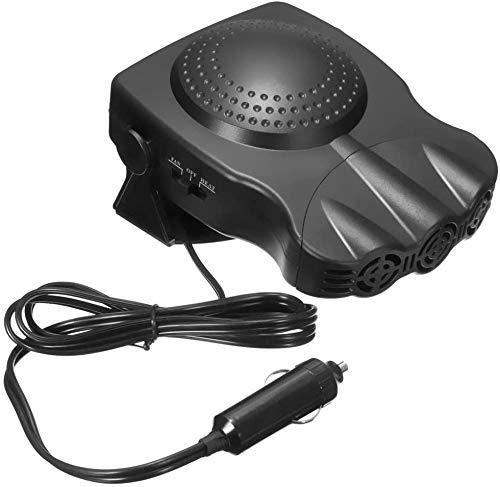 XIAOCAI Car Heater, Anti-Fog 200W 12V Plug in Cigarette Lighter Portable Auto Heater Fan 2 in 1...