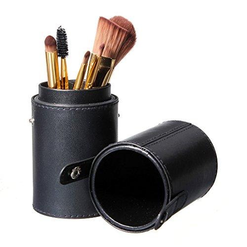 LUCKYFINE Schwarzes Leder Pinsel Leere Halter Make Up Artist Tasche Makeup Box...