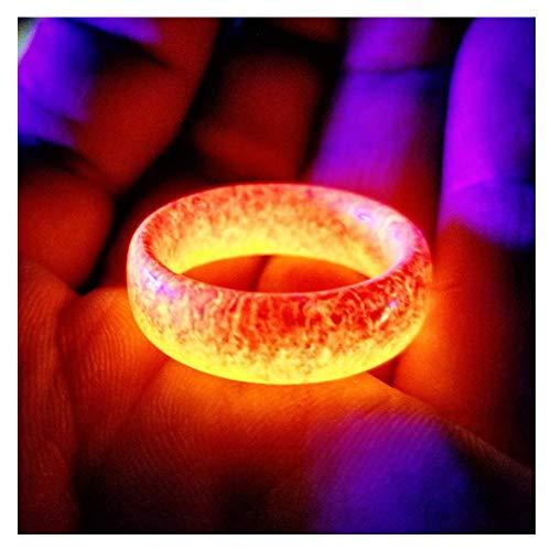 FzJs-J-in Luminous Glow Ring im Dunkeln leuchten Schmuck Unisex-Dekoration für Frauen Männer
