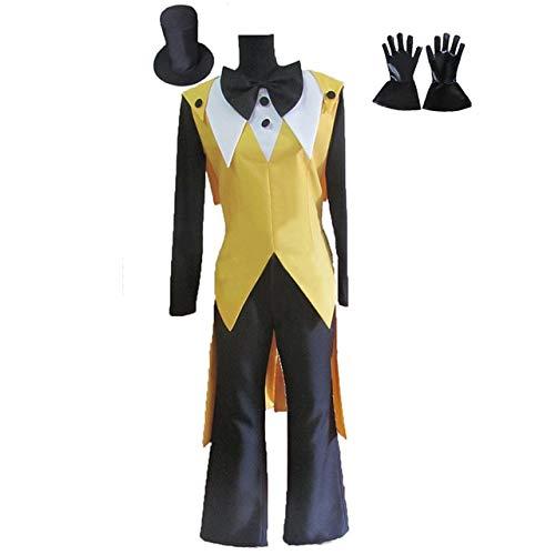 WSJDE Gravity Falls Bill Cipher Disfraz de Cosplay Mystery Attack Outfit Disfraces de Halloween con Sombrero y Guantes S Hembra