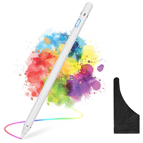 maylofi Active Stylus Pens for Touch Screens with Glove, Smart Digital Pencil Fine Point Stylist Pen Compatible with iPhone iPad Pro/Air/Mini,Samsung/Android Smart Phone&Tablet (White)