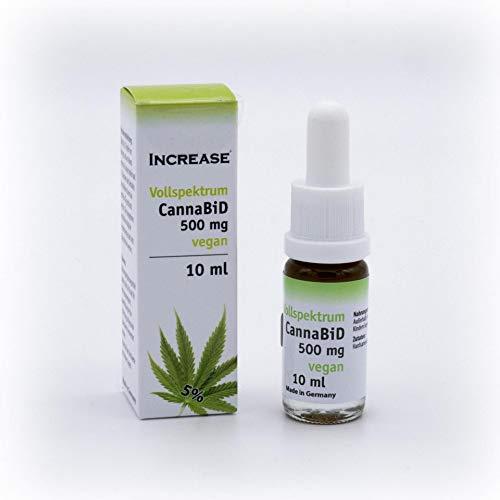 Increase CannaBiD 500 mg, Vollspektrum Öl, Vegan, ohne Zusatzstoffe, 10 ml