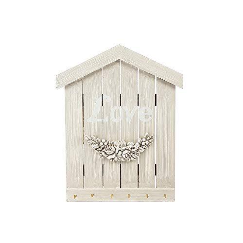 BuyStar Portachiavi da Muro Parete in Legno Shabby Chic Ideale per l'ingresso appendichiavi Decorazioni per la casa Scritta Love Appendiabiti