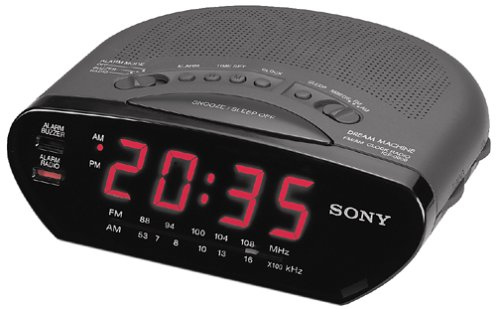 SONY ICF-C211-BLK AM/FM Clock Radio (Discontinued by Manufacturer)