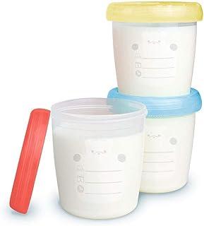 Potes para Armazenamento Leite Materno e Papinha, Clingo, Multicor