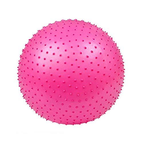 TangMengYun PVC Yoga Ball Fitness Float Ballmassage Verdickung Explosionsgeschützte Hause Indoor Sport Balance Training Gewichtsverlust Sitz (Color : Pink, Größe : 65cm)