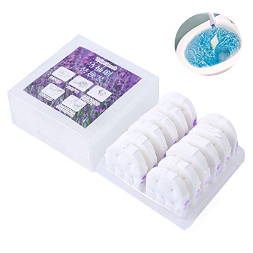 Toilet Brush Replacement Head Disposable Wipes Plastic Cleaner Chlorox Plunger Clorax with 12 Pieces of Replacement Space Saving and Hanging (Lavender)