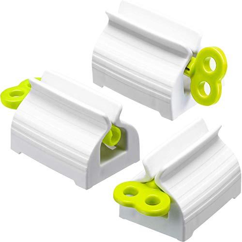 SODIAL(R) - 3 rodillos de tubo dentífrico, prensador de dientes giratorio para cepillo de dientes para el rostro, exprimidor de cítricos para cuarto de baño