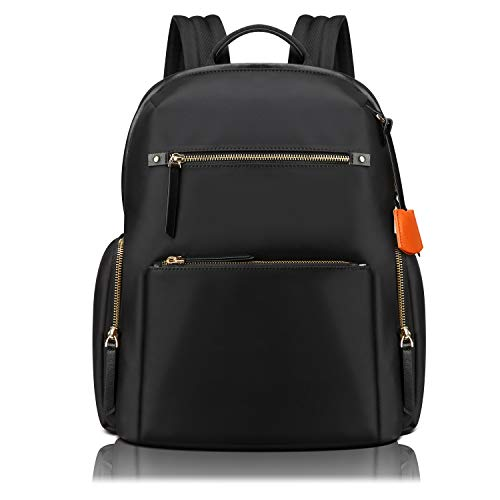 BOPAI 14 inch Laptop Backpack for Women Casual Daypack Backpack College Waterproof Travel Backpack for Women, Black