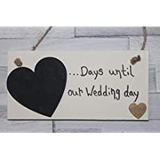 MadeAt94 Wedding Countdown MRS /& MRS Gay Engagement Gift Sign Chalkboard Lesbian Couples