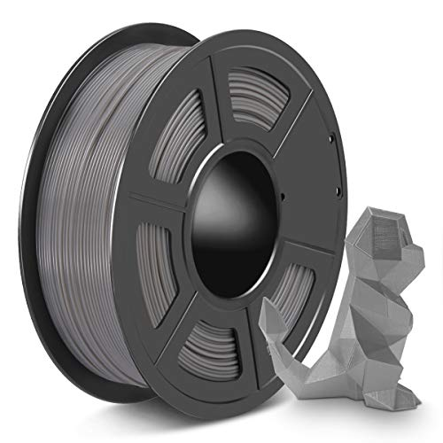 SPLA 3D Printer Filament 1.75mm, PLA Filament and PETG 3D Filament Mix Together, Shiny SPLA 1.75 Grey, 1kg