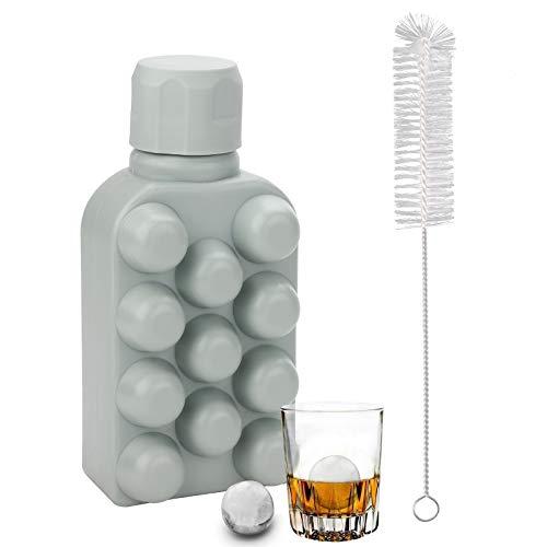 Moldes para cubitos de hielo Bandejas para cubitos de hielo Hervidor para hacer bolas de hielo portátil para agua hockey cóctel café whisky champán cerveza jugo 11 rejillas cubitos congelados verde