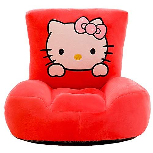 DQYFZQ Hello Kitty Sofá Plegable para niños sofá Cama con reposabrazos de Esponja de Felpa para niños Asiento de sofá vago de Juguete Silla para niños,b,50cm
