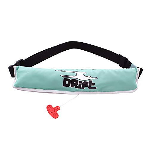 DRIFT Unisex Belt Pack Inflatable Life Jacket (PFD) | U.S. Coast Guard Approved | CO2 and Oral inflated | CO2 Included