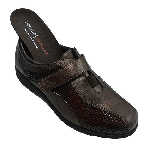 Zapato Velcro Mujer Especial para Plantillas Muy cómodo Doctor Cutillas en marrón...