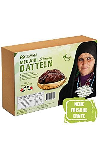 NABALI FAIRKOST FÜR ALLE Medjool Medjoul Datteln aus Palästina - Premium Qualität vegan aromatisch traditionell frisch & orientalisch I ohne Konservierungsstoffe I 1 kg (1er Pack)