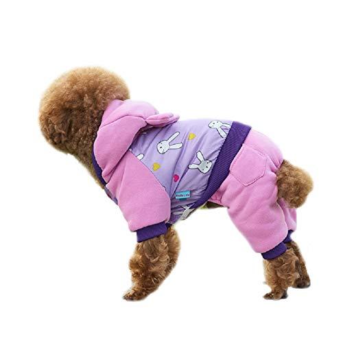 ABRRLO huisdier hond kleding hond vest jas mantel kostuum puppy mode warme overall dogy kleding voor kleine hond puppy kat voor herfst winter, X-Small