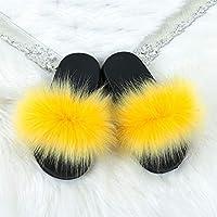 Whdz 毛皮のスライドスリッパスリッパサンダルのための屋内屋外の屋外の夏の靴 (Color : G, Size : 30-31)