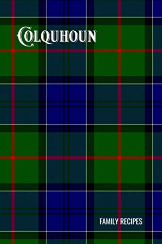 Colquhoun Tartan Composition Book, Matte Cover, College Ruled Pages: 6x9 Inches, 100 Pages, Personalized and Perfect for Class, Work, Journaling, Recipes, Notes