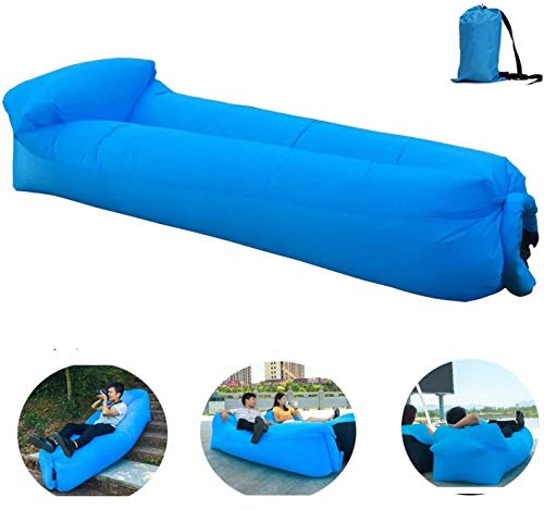 OXENDURE Aufblasbare Liege Luftsofa Hängematte - tragbar, wasserdicht und luftleckend Design-ideale Couch für Hinterhof Lakeside Beach Reisen Camping Picknicks & Musikfestivals