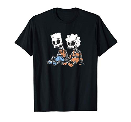 The Simpsons Bart & Lisa Skeletons C2 T-Shirt