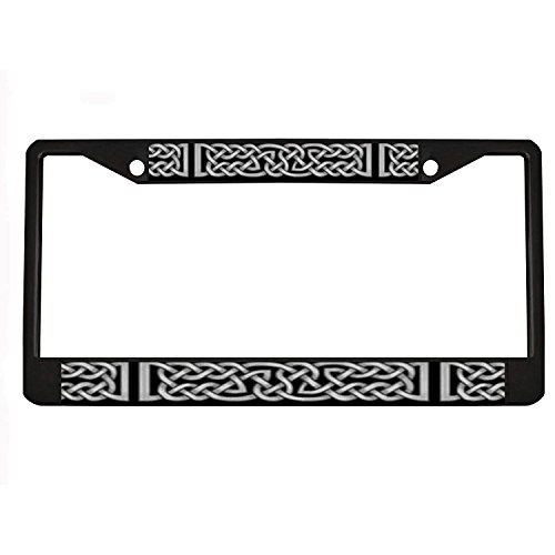 Jesspad - Celtic Knot Gray License Plate Holder - Aluminum License Plate Frame, License Tag Holder,Auto Frame Cover Grill