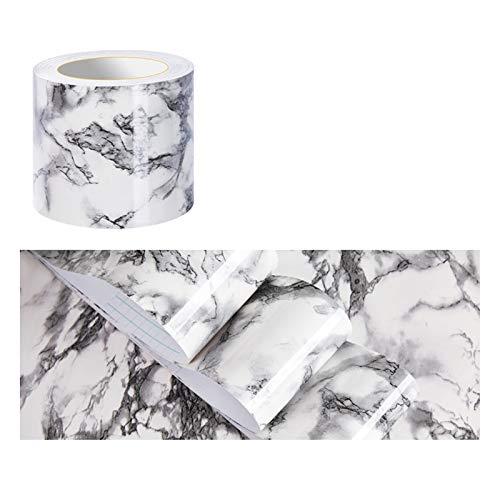 ZQD 10 Metro PVC Cenefa Autoadhesiva Papel Impermeable decoración de Pared extraíble mármol de imitación Cocina baño Azulejos de Techo Pegatina (Color : #3, Size : 10mx10cm)